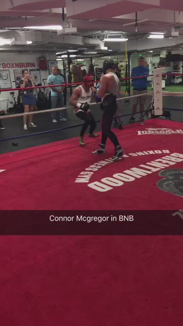 Nevr thought @TheNotoriousMMA had a chance against @FloydMayweather until I seen him spar 2day in @BoxNBurn