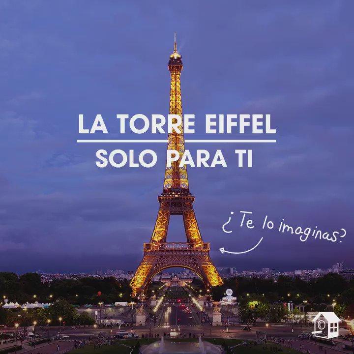 Haz historia durmiendo en la Torre Eiffel con @HomeAwayES: https://t.co/VX0GGeflrD #EiffelTowerAllYours https://t.co/jjwRGwcuaw