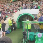 Brendan Rodgers being presented to the ## @celticfc supporters #Celtic https://t.co/tdiW9psOtX