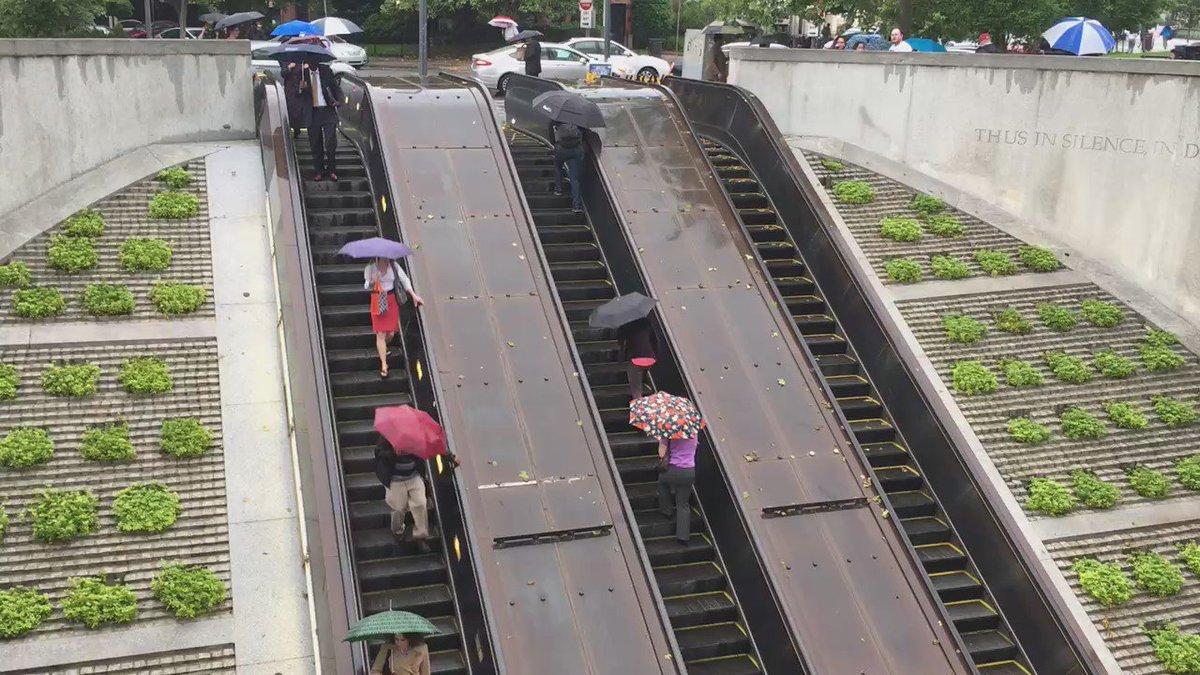 Dupont escalators broken again. Working one should have been switched to UP. @unsuckdcmetro @dcmetrosucks https://t.co/8rRH6iQjAD