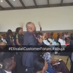 Getting feedback video from friends at the #EtisalatCustomerForum #Abuja event. https://t.co/KzE7wwqHYT