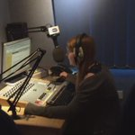 Here @caterinasoave gets ready for her first @minsterfm 5pm news https://t.co/pBPS803nWJ