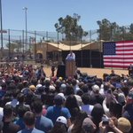 #KellyOCam See why @BernieSanders stopped the crowd from chanting his name. Cathedral City CA https://t.co/7hvJviHfMP