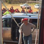 CIC @Julius_S_Malema has arrived at Ackerville, #Emalahleni #VoteEFF https://t.co/oKrSraabPq