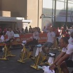 Not only spinning to 10k miles for #RedNoseDay - the @TODAYshow team are doing the day job too! https://t.co/EzCx9GDihN