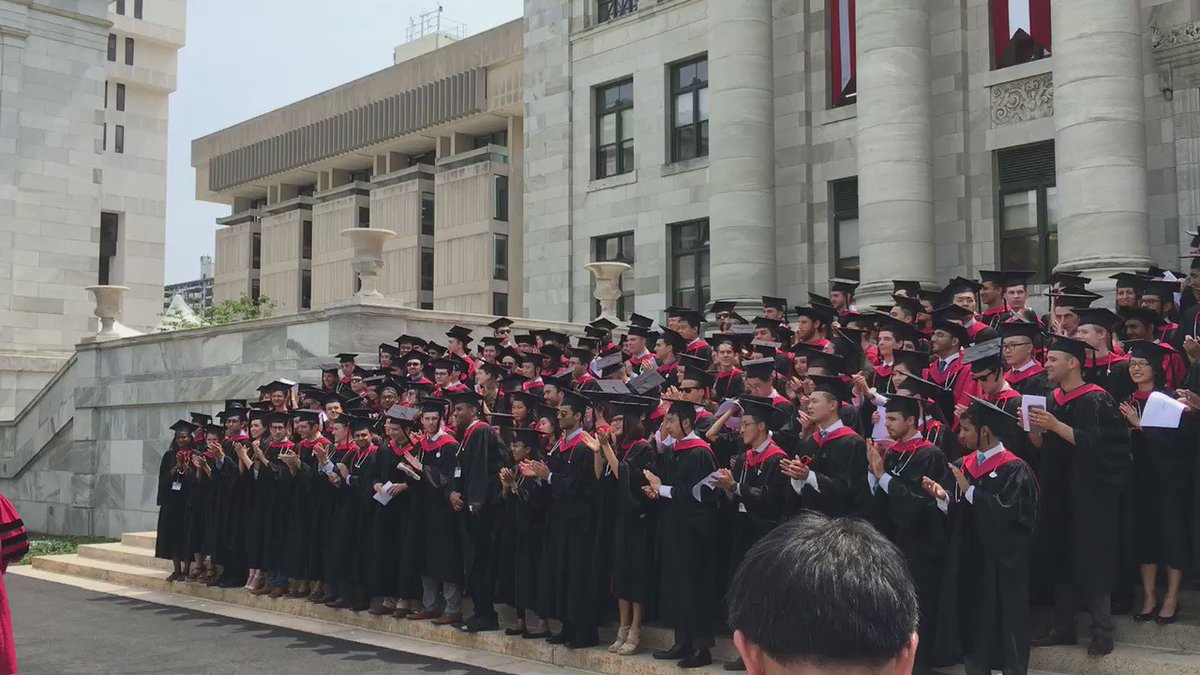 With the @harvardmed graduating class of 2016. Congrats graduates! #HarvardMed16 https://t.co/xHmbQA4eOU