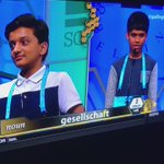 "Nihar is an absolute savage! Kid throws up the ""X"" and turns down TWO high fives from Jairam .. #SpellingBee https://t.co/aXTlXa8LVo"
