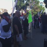 #DonaldTrump supporters making way into arena, around 100 protesters outside, @realDonaldTrump speaks at 10 #Fresno https://t.co/NapFHEWBbs