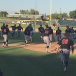 Heres the reaction from the Aggie dugout on @DewGdpops walk-off single! #AggieUp https://t.co/5OvqCzwl8l