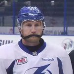 Steven Stamkos prefers his chin strap used; Blackened, lightly salted, with a splash of vinegar. #TBLightning #Bolts https://t.co/Q16q2t5x8B