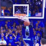 From Draymonds foot to Draymonds face. This is the story of Steven Adams nuts. #OKCvsGSW https://t.co/UgDIC7hHR5