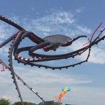 ネットで話題の動画。シンガポールの凧フェスティバルで飛ばされた、『巨大なタコの凧』がすごい。  https://t.co/w8TwE3ACcD  風になびいて揺らめく触手が、海で泳ぐホンモノのタコの動きをみているよう。 https://t.co/GQEdGpgXBm