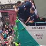 The Connacht army on the march through Galway today... From the window of @LallyTours on Forster Street https://t.co/RYZtGhXA9U