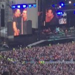 Bono just joined Bruce Springsteen on stage UNREAL #rockstars #realrockstars #legends #livemusic #becausethenight ❤️ https://t.co/KFVa9v3Zdz