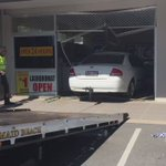 Car getting towed from laundromat after smashing into store- significant damage inside @9NewsBrisbane https://t.co/LJFyNVwqb9