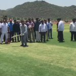 Inaugurated cricket facilities at Krishna dist. in Andhra Pradesh & played a bit of cricket too! @bcci https://t.co/AYTjNev0lm