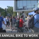 Hamilton celebrates 8th Annual Bike to Work Day. #HamOnt @morninglive @dweeks_CHCHnews https://t.co/JuwlYDsaiE https://t.co/QhAz062BGg