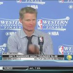 Steve Kerr is a savage man.. #StephCurry #Warriors https://t.co/A9tDUlv8vV