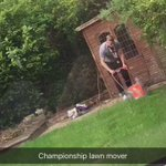Championship lawn mower ???????????????? @Robbo_4 @bfc_official https://t.co/sS9umdcMPA