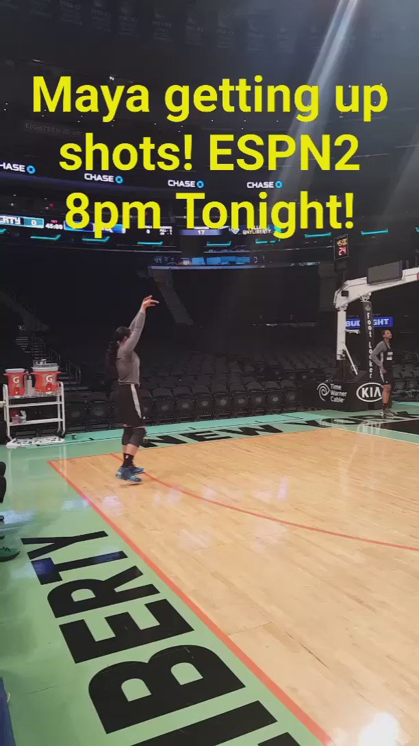 In New York watching @MooreMaya get shots up! Big tilt between The New York Liberty & @MinnesotaLynx  8pm on ESPN2! https://t.co/tzghx34K5o