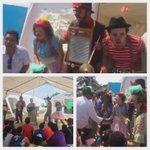 Teatreros voluntarios llevan alegría a los niños de albergues oficiales. @MashiRafael #Jama #Manabí #DiaDeLaNinez https://t.co/GM8j0xXDu7