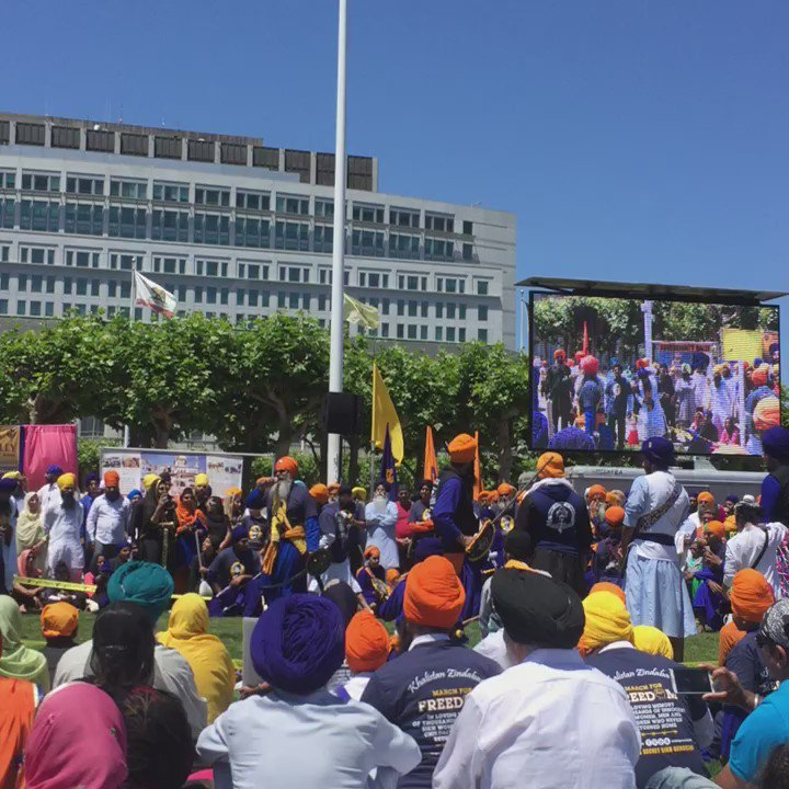 Sikh March in SF commemorating  #SikhGenocide84 https://t.co/2b6MinvW3E