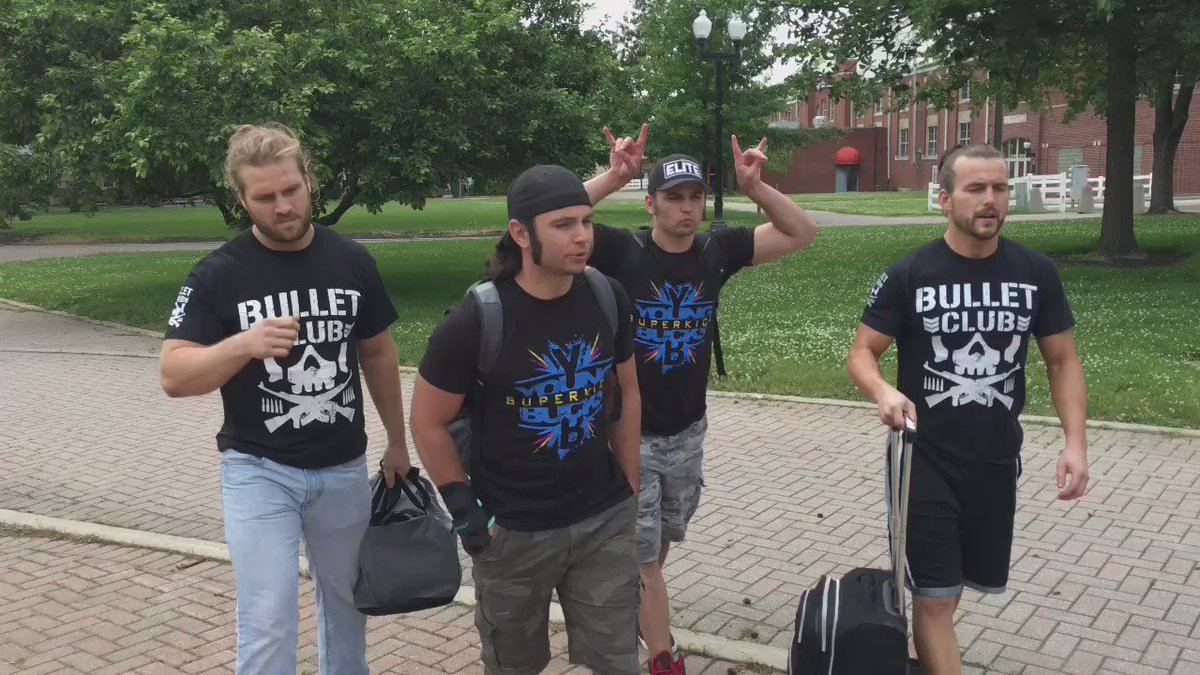 #BulletClub arrive in Columbus #RoadToBITW https://t.co/ne5ej2Ts88