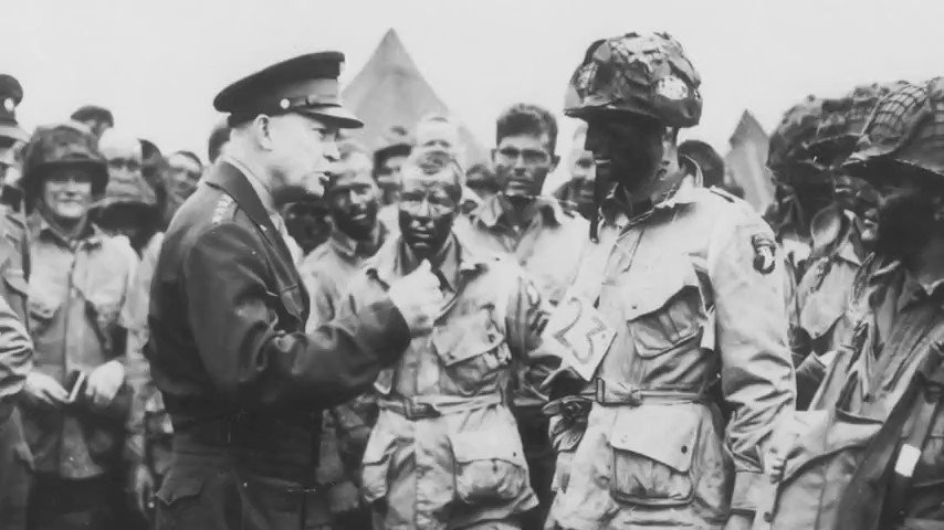 In honor of #DDay, listen to a clip from #ArmyTeam Gen. Dwight D. Eisenhower's famous speech to allied forces. https://t.co/vX4B3AMQQF