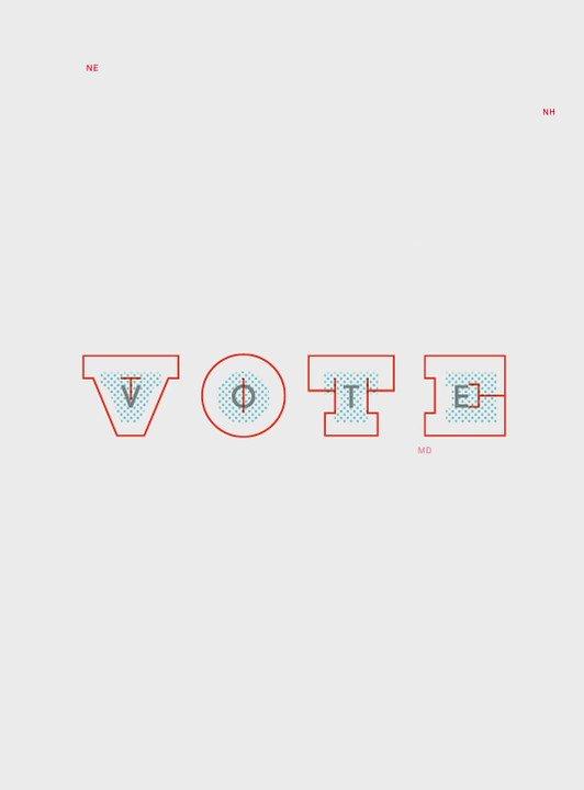 Paula Scher designs poster for @AIGAdesign #GetOutTheVote initiative https://t.co/3BdNEYE7DT https://t.co/kObeRqCVj3