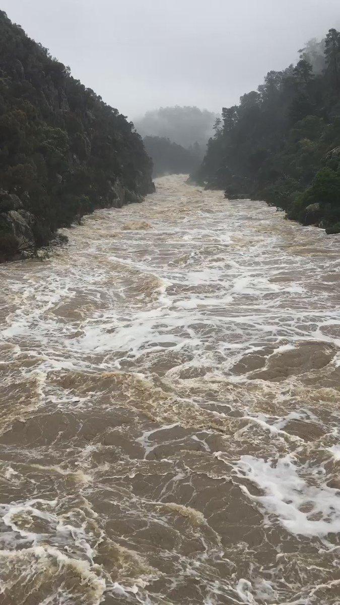 Cataract Gorge #TasFloods #Launceston https://t.co/W30PTCBDYF