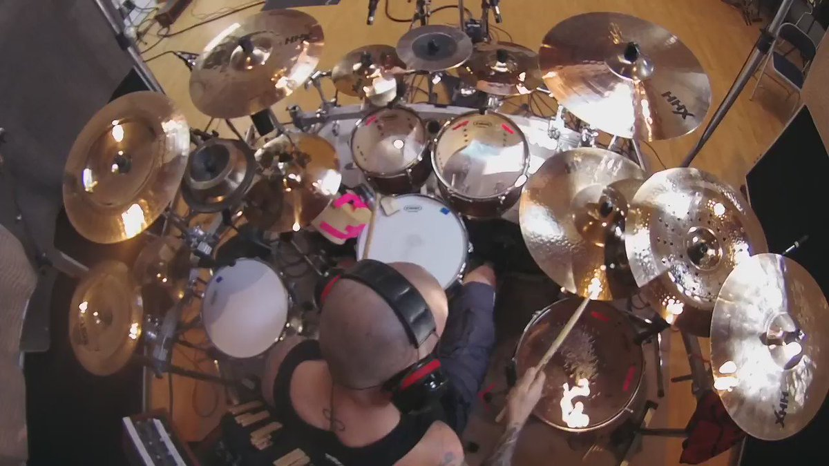 Regal Tip Artist @rvanpoederooyen absolutely shredding these drum parts for the Devin Townsend Project-Transcendence https://t.co/rfQi4NKxyB
