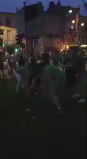 Irish supporters cleaning up after themselves in France. I've seen it all now!