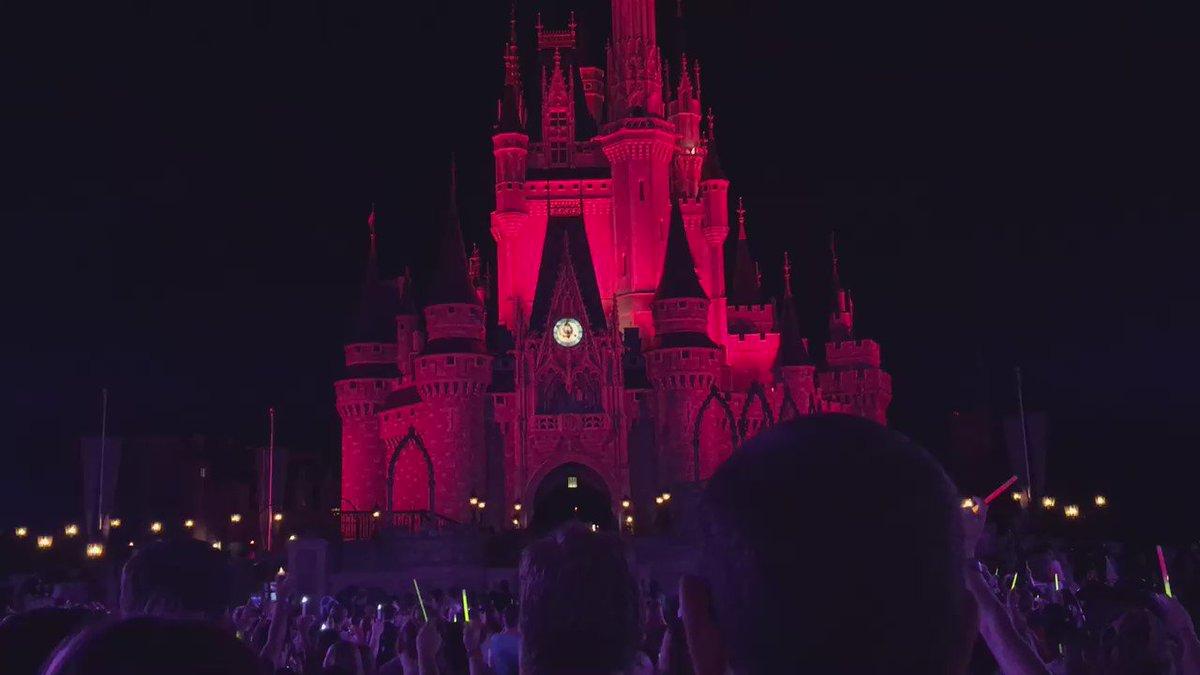 Post-Kiss Goodnight moment of silence. Never heard the Magic Kingdom so quiet #OrlandoStrong ~@skubersky https://t.co/Jxuz6ikV2b