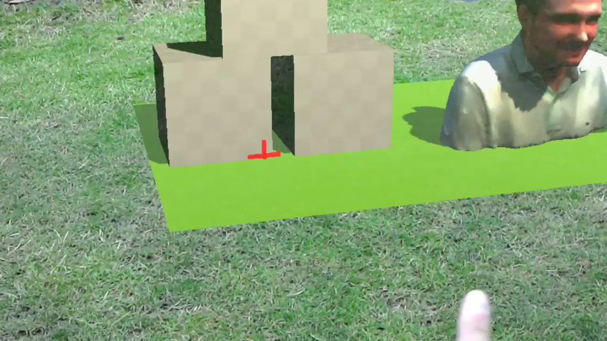 This is what happens when I say to my wife: I will go down to the garden and test something. #HoloTouring #HoloLens https://t.co/xm3axNZtm1