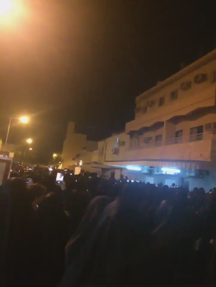 Another clip from #Bahrain this eve sent by a friend. Revoking of Sheikh Issa Qassim nationality causing much anger https://t.co/xHrOKr8hPU