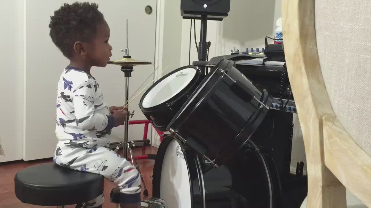 Just gonna play this every time I need a boost. 1 yr old LJ hears his own melody for first time. #becauseofthemwecan https://t.co/gxMcyjr4ig