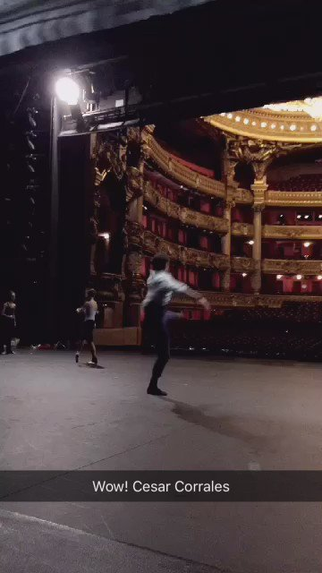 You have to check this out! ~> Cesar Corrales - @operadeparis Stage