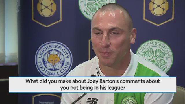WATCH: @Celtic captain Scott Brown on @RangersFC's @Joey7Barton https://t.co/lMm0M7FgnL https://t.co/spzsP3ZPvi