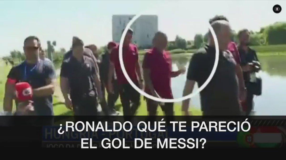 La respuesta de Ronaldo al gol de Messi. https://t.co/voZhVMdp3Q