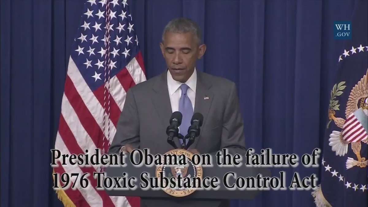 No sitting @POTUS has ever acknowledged how deadly #asbestos is...until @BarackObama did today at #TSCA signing https://t.co/yXWidaIaAU