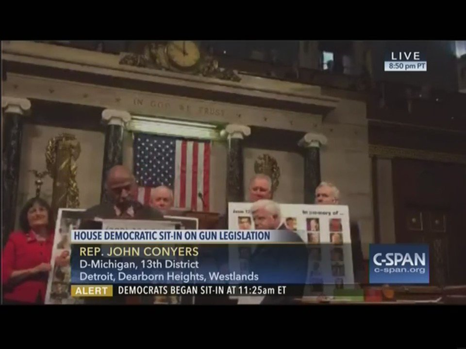 More than 13 hours on the House floor and proud. #NoBillNoBreak #NoMoreSilence https://t.co/C9daAXSOnQ