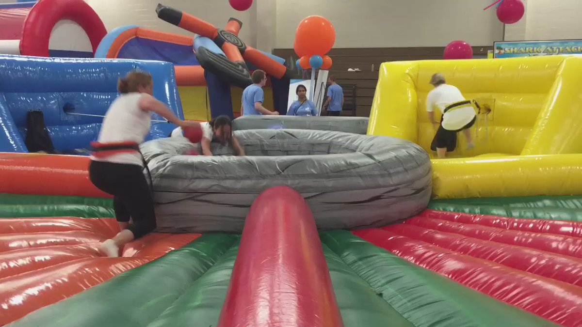 The @Flybridge girls competing in human hungry hungry hippos! https://t.co/PHiJYSWWy5
