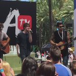 Playin at VIDCON with my bros @TannerPatrick and @garygarrismusic ???? https://t.co/hB1PS2GOww
