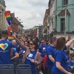 Rocking the city and the parade hasnt even started yet!! @AvivaPride @AVIVAIRELAND @DublinPride #AvivaIrelandPride https://t.co/OkrZtQ1zBm