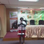 First speaker Mrs Abigail Amponsah-Nutakor, Head of Gender & Disability #voteonissues #ydialogues https://t.co/wZQsUogHf6