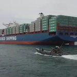 BPC-4509 custodia nave Cosco Shipping Panama/1ra. que transitará nuevas esclusas/fondeadero/Colón #SomosElCanal https://t.co/NxNm419Ubx