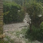 Major hailstorm in #cambridge! https://t.co/I3uUS7eMzs