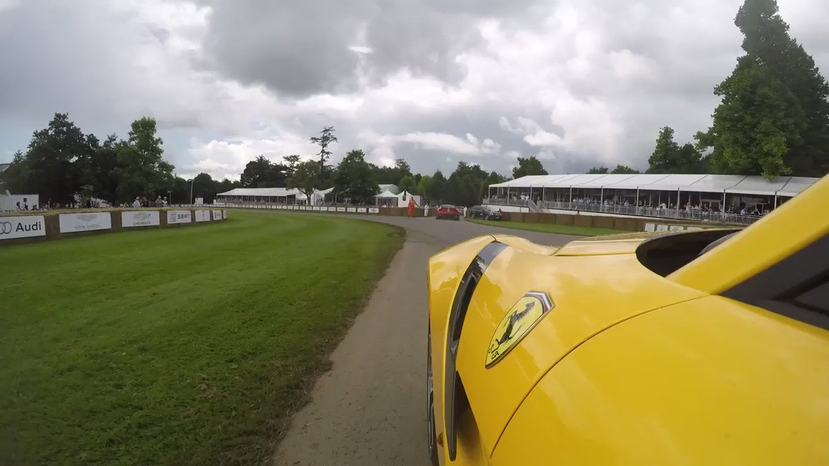 Hope 4 Ferrari F12tdf donuts were enough for the crowds at #FOS Goodwood, courtesy of @Thecarmagdriver https://t.co/iSdeloIQln
