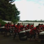 Thanks to @LethbridgeTaiko for a great performance in the garden. The rain didnt stop these #drummers #yql https://t.co/xldn8khR7l
