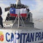 """La dotación de la fragata """"Capitán Prat"""" le envía todo su apoyo a @LaRoja #CopaAmérica https://t.co/U4C6IzW1bE"""